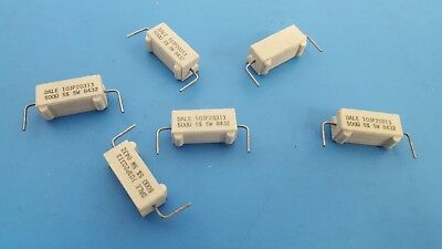 Power Resistor Ceramic Cement 5w 500 Ohm 5 Dale 103p20313 25pcs