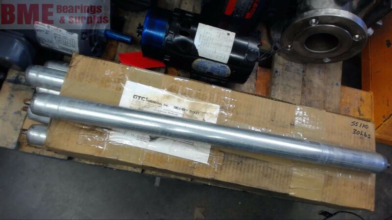 """Conveyor Rollers 32"""" Overall Length 1.9"""" Od"""