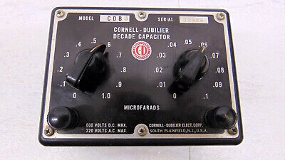 Cornell Dubilier Type Cdb 3 Two Decade Capactor .01-1.1uf In .01uf Steps. 600vdc