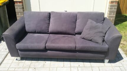 Free 3 seater lounge blue grey Narellan Vale Camden Area Preview