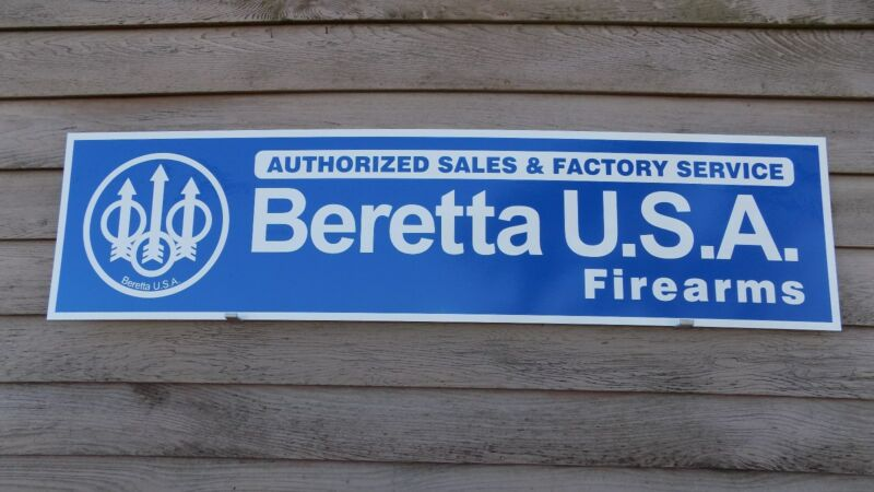 CURRENT STYLE BERETTA FIREARMS DEALER SIGN/AD 1