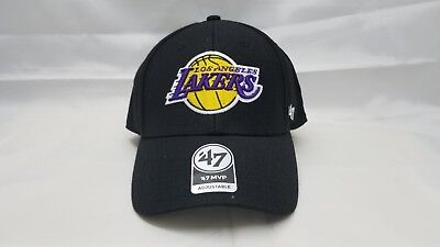 1b54512d 47 MVP ADJUSTABLE HAT. NBA. LOS ANGELES LAKERS. BLACK.