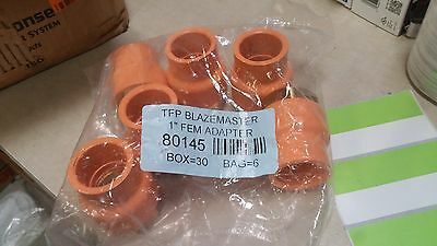 Lot Of 6 Tfp Blazemaster 1 Female Adapter Pvc To Brass Sprinkler Fitting 80145