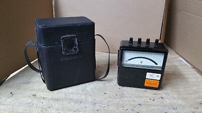Vintage Yokogawa Portable Ac Voltmeter Type 2013 Wgood Case
