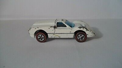 Vintage Hot Wheels Red Lines HK 1968 Ford J-Car [White Enamel]