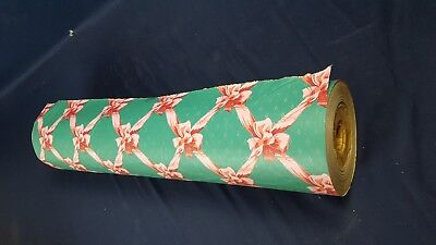 Vintage Country Store Wrapping Paper Roll 9 Lbs Birthday Pink Ribbon Gift 24