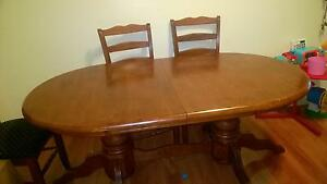 timber dining table and chairs Kogarah Rockdale Area Preview