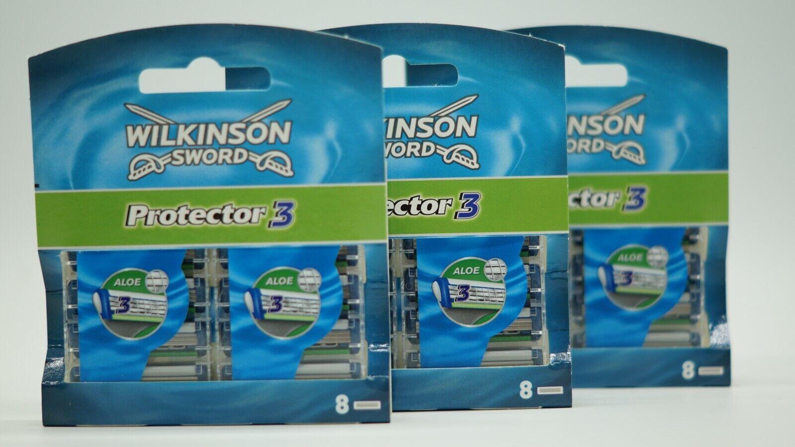 Wilkinson Sword Protector 3 Rasierklingen 24 er - NEU - OVP - für Männer 3 x 8er