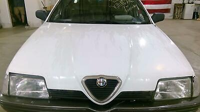 91-95 Alfa Romeo 164 Hood Assembly with Grille OEM Used (White AR230)