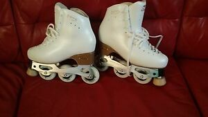 Inline Figure Skates - Artistic Rollerblades - Snow White Inlines Heidelberg Heights Banyule Area Preview