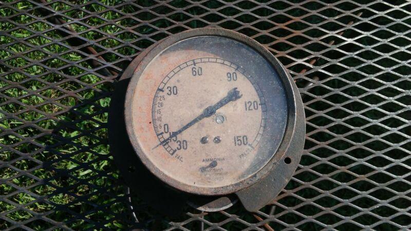 vintage jas. p. marsh corporation Chicago ammonia pressure gauge 5 inch