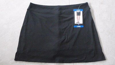 TRANQUILITY COLORADO CLOTHING YOGA GOLF SKORT SKIRT NEW SOLID BLACK Size LARGE