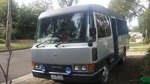 Toyota Coaster Motorhome, ual fuel, kitchen, shower,185000 km Ringwood Maroondah Area Preview