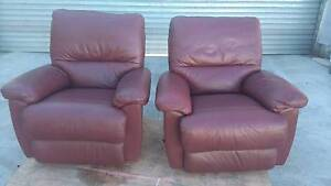 LA Z BOY  LEATHER  CORDELIA ROCKER RECLINER'S Sumner Brisbane South West Preview