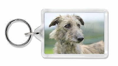 Rough Coated Lurcher Photo Keyring Animal Gift, AD-LU6K