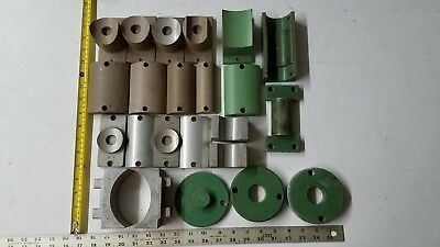Lot Mcelroy Plastic Pipe Heater Serrated Adapter Plate Sidewall Clamp Concave