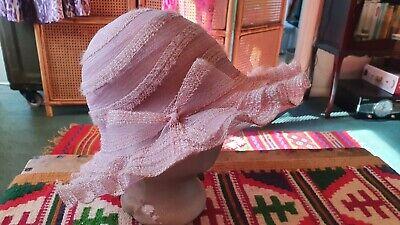 Vintage Pink Hat.
