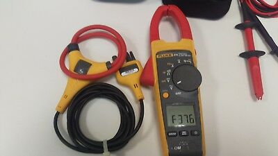 Used Fluke 376 1000a1000v Truerms Acdc Clamp Meter Iflex Probe Tl80a Modular