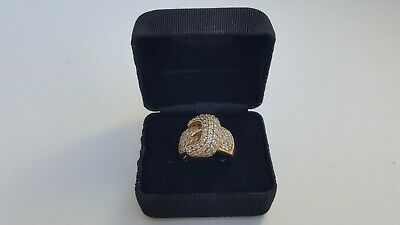 Beautiful Ladies Fine Estate Jewelry HSN Sterling Silver CZ Gemstone Ring Sz9.75