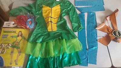 Adult Womans nickelodeon Teenage Mutant Ninja Turtles Costume Size med 8-10
