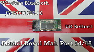 New Arduino  Wireless Bluetooth Serial RF 5V Transceiver Module JY-MCU HC-06 UK