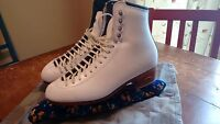 Riedell Boots size 7.5 with MK 21 blades, size 10 1/3