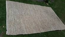 Woven Leather Designer Rug in natural colours Burleigh Waters Gold Coast South Preview
