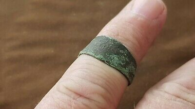 Super rare Viking bronze finger ring from Ireland A must read description L149n