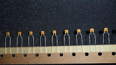 100pf 100v Capacitor Np0 Radiall Ceramic Thru Hole 25 Per Lot Ec04ce0101j
