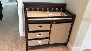 Baby diapers change table with storage
