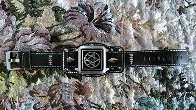 H.I.M. HIM Heartagram Logo Wrist Watch Leather Band 2005
