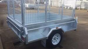 7x5 Hot dipped Galvanised 1400kg Trailer with cage Hindmarsh Charles Sturt Area Preview