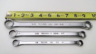 3 Pc Thorsen Usa Double End Box Wrench 12 Point Set 1116 Thru 38