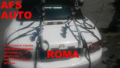 PORTABICI POSTERIORE 3 BICI MAZDA MX5 CABRIO CABRIOLET 2007 X 3 BICI...