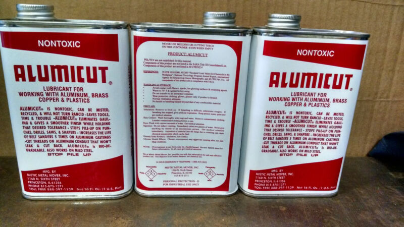 3 Pints ALUMICUT Lubricant for Aluminum, Brass, Copper & Plastic FREE Shipping