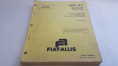 Fiat-allis Parts Catalog Hd 41 Crawler Tractor