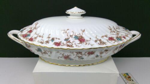 Minton Ancestral - Large Covered Oval Casserole Serving Bowl