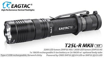 1900 Flashlight - Eagletac T25LR MKII CREE XHP35 HI NW LED Rechargeable Flashlight KIT 1900 Lumen