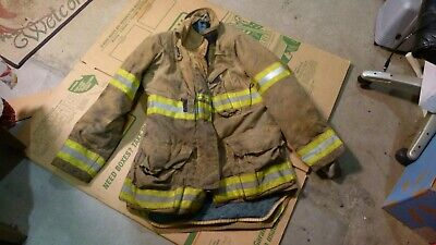 Quaker Firefighters Jacket Turnout Bunker Gear Fireman Size 42-3238-37