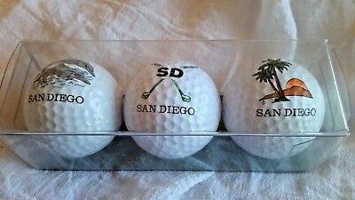 Mariposa Golf Ball (Sleeve of 3 San Diego Golf Balls MARIPOSA IMPRESSIONS Souvenir Tour USA Vintage )