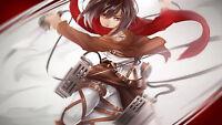 Poster 42x24 Shingeki No Kyojin Mikasa / Attack Titan 02 - titan - ebay.es