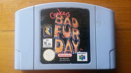 "*REDUCED* Nintendo 64 Game "" CONKERS BAD FUR DAY "" N64 Toronto Lake Macquarie Area Preview"