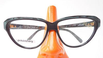 Silhouette Brille Fassung Kunststoff Katzenaugen große Form schwarz grün Gr L