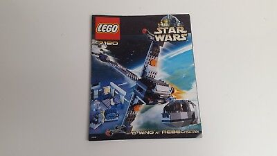 LEGO STARWARS  !! INSTRUCTIONS ONLY !! FOR 7180 B-WING AT REBEL CONTROL CENTER