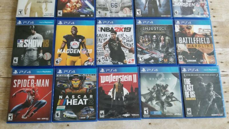 Playstation 4 games used lot