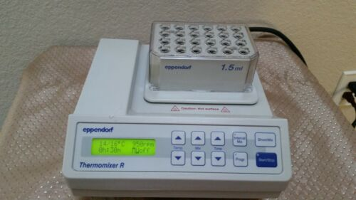 Eppendorf Thermomixer R Mixer Shaker Incubator w/ 1.5 mL Block Tested Excellent