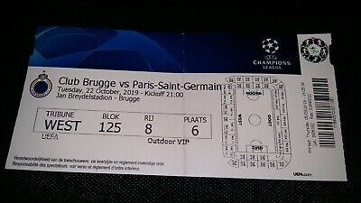Ticket Club Brugge Paris Saint Germain PSG 22102019 UEFA Champions League 19/20