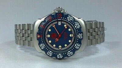 TAG Heuer F1 Formula One Gents Quartz Watch Blue & Red Dial with Date & Box