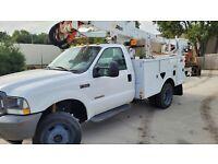 2003 Ford F550 Super duty  4x4 Utility Bucket Truck