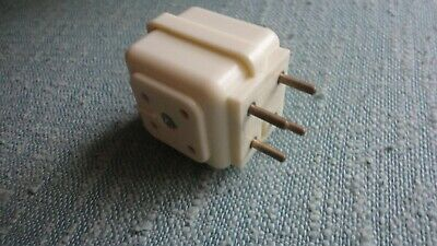 RARE BELL SYSTEM WESTERN ELECTRIC STYLE DUAL 4-PRONG TELEPHONE PLUG ADAPTER Dual Prong Adapter
